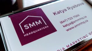 SMM Headquarters business card