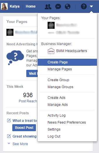 Find-Create-Page-option